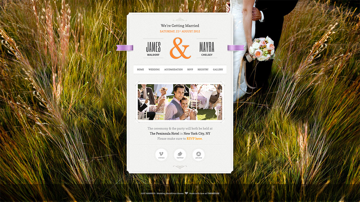 married wordpress theme