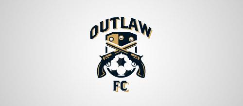 outlaw gun logo design
