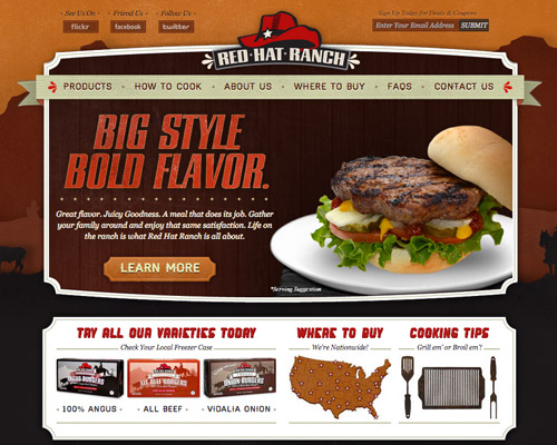 red ranch web design