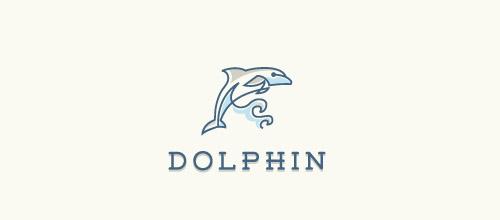dolphin lines logo design