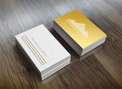gold business card gradient