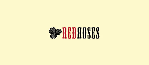 red roses logo design