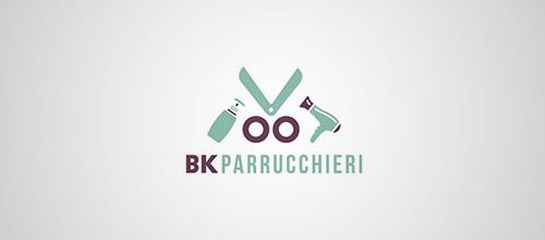 salon scissors logo design