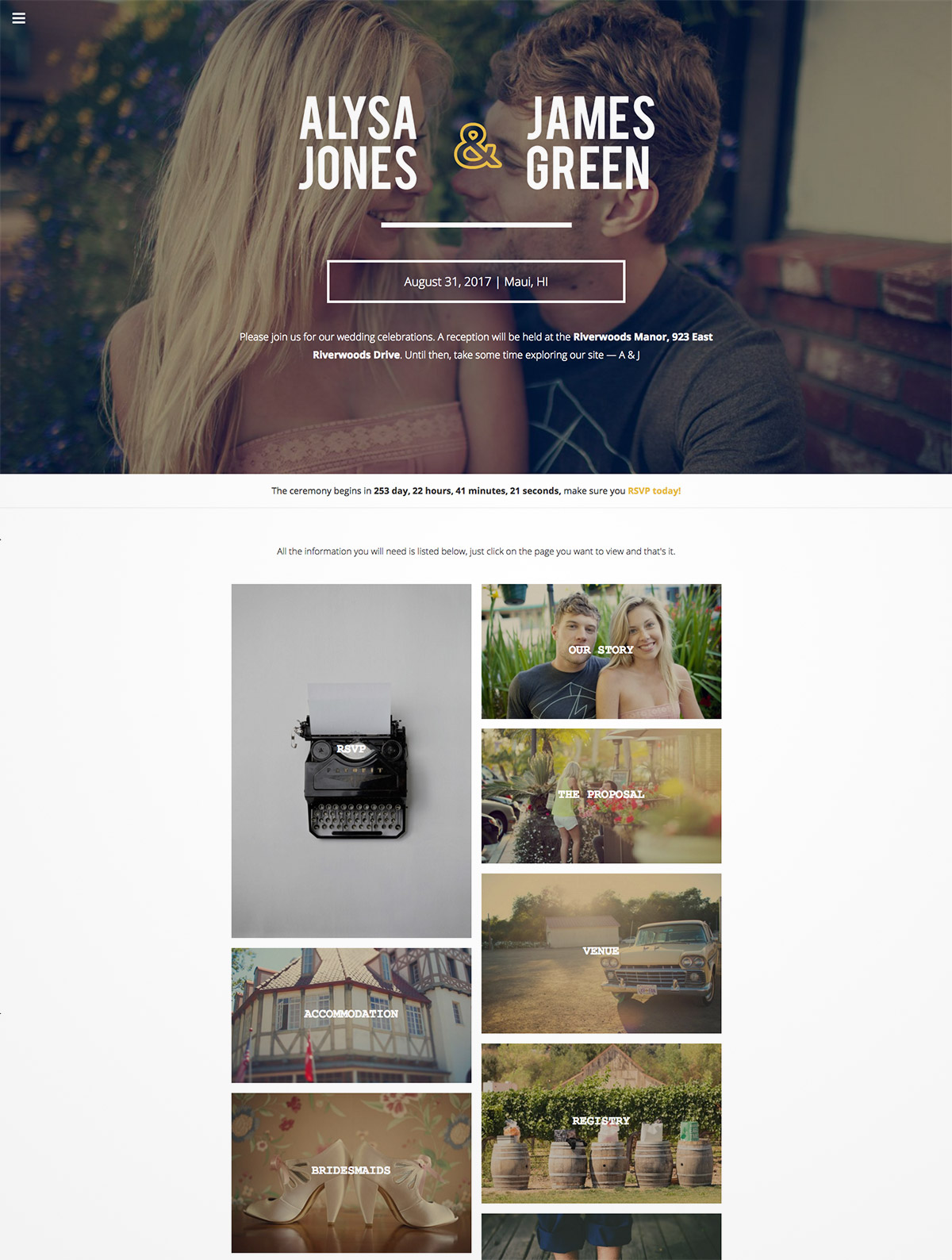 wedding responsive wordpress