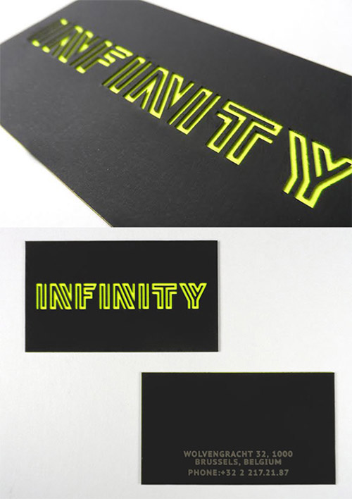infinity neon business card