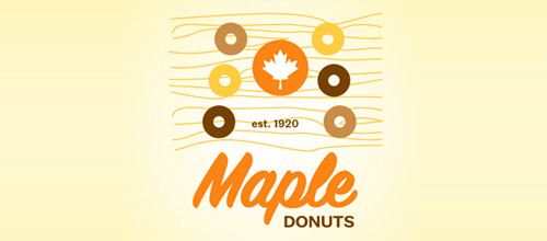 maple donuts logo design