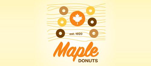 maple donuts logo design
