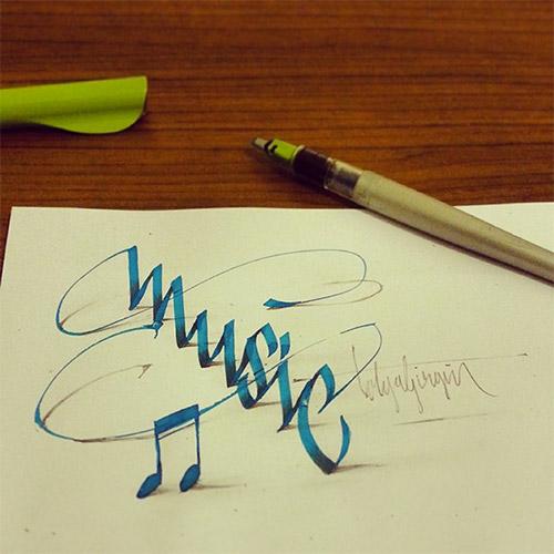 music letters 3D tolga