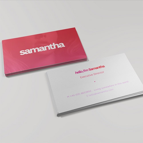 pink business card gradient
