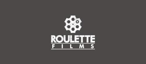 roulette films gun logo design