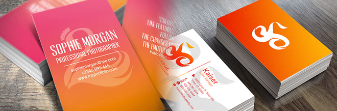30+ Beautiful Examples Of Gradient Business Cards