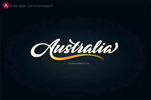 Australia typography logo