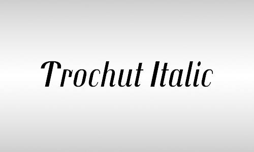 free trochut font