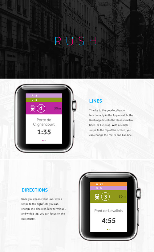 rush apple watch app