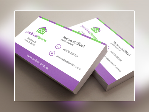 violet business card design