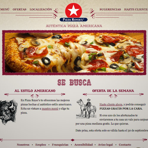 pizza royer website