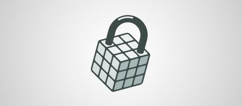 rubiks padlock logo