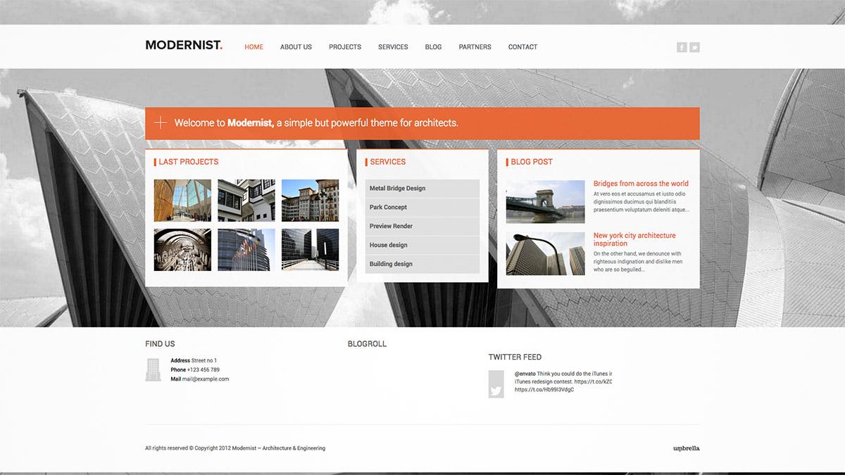 engineer website template