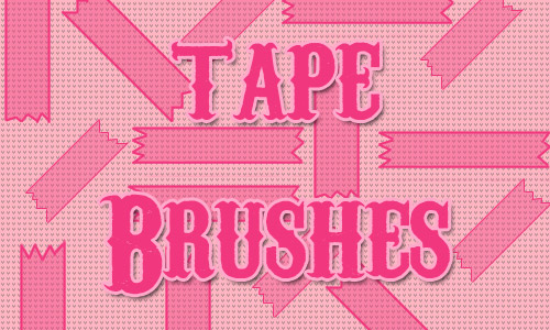 illustrated tape brushes