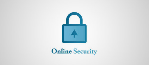 online security padlock logo