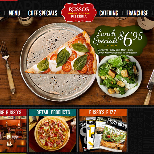 russo pizzeria website