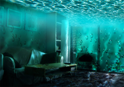 underwater room photoshop tutorial
