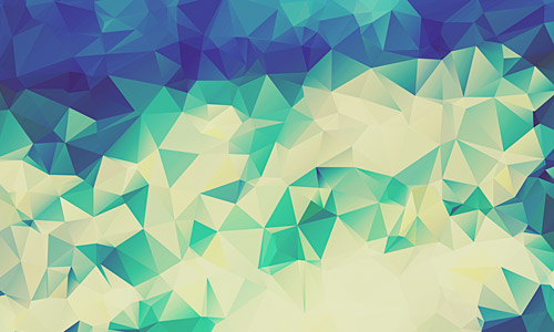blue green low poly