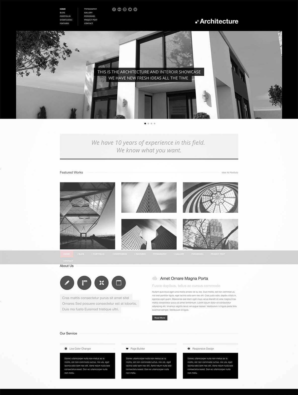 premium theme architecture