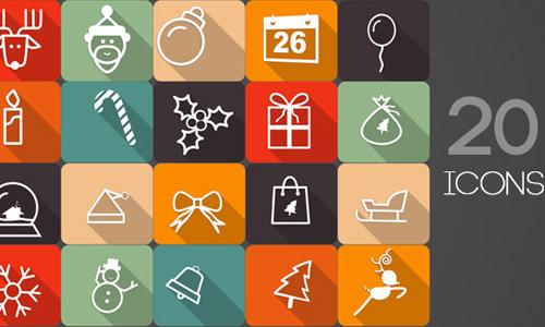 animated Christmas icons