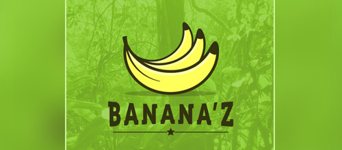 bananaz logo design
