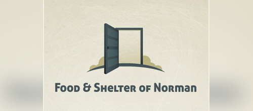 food shelter door logo