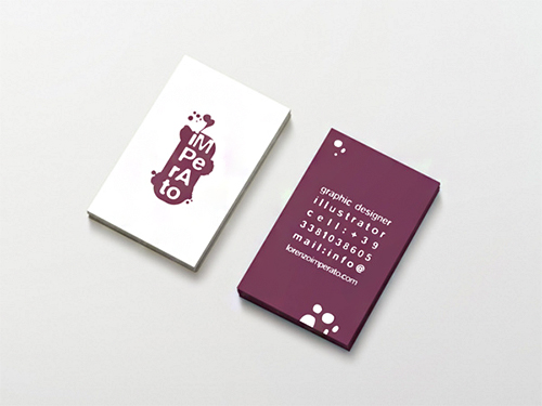 graphic designer violet business card
