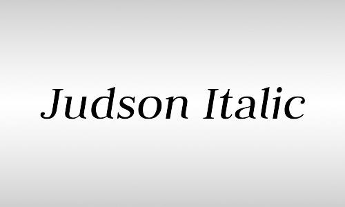 Judson italic font