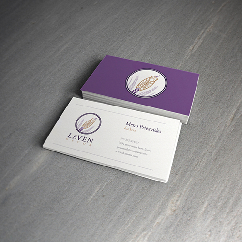 luxury violet business card