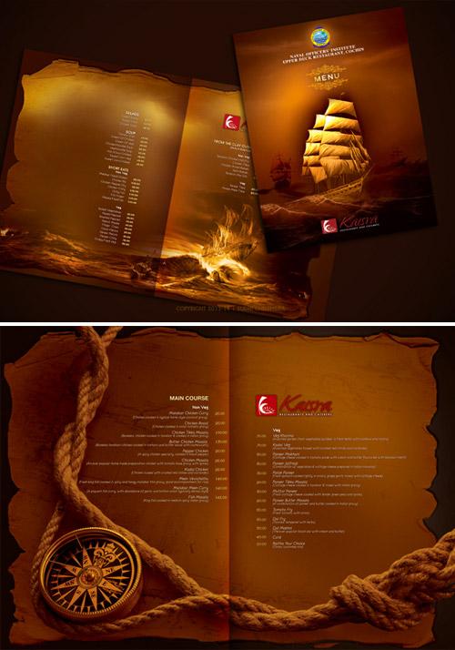 naval restaurant brochure