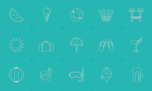 summer icons free