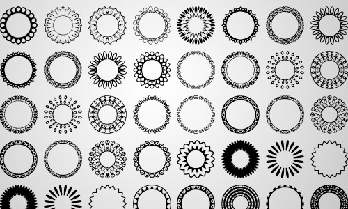free circular custom shapes