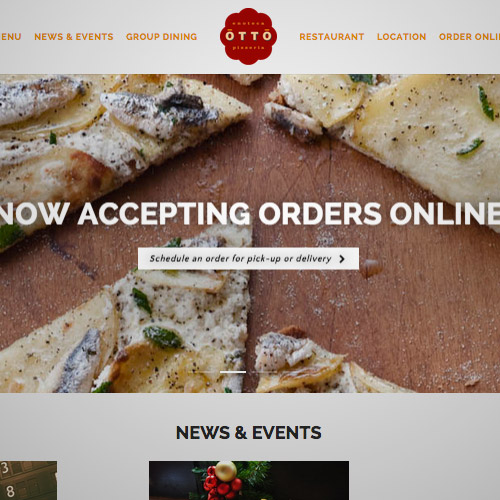 otto pizzeria website