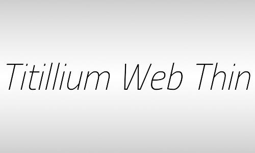 titillium italic font free