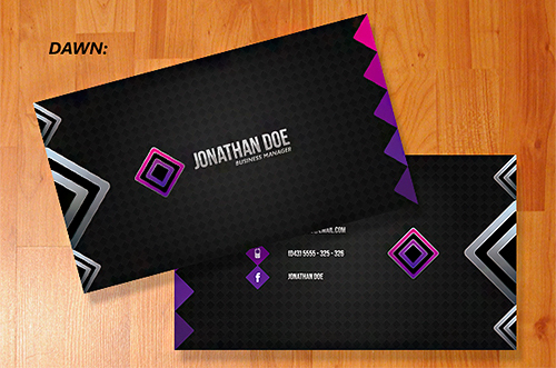 violet black business card