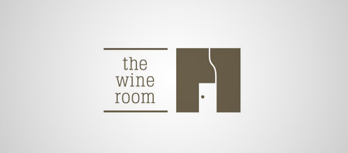 wine room door logo