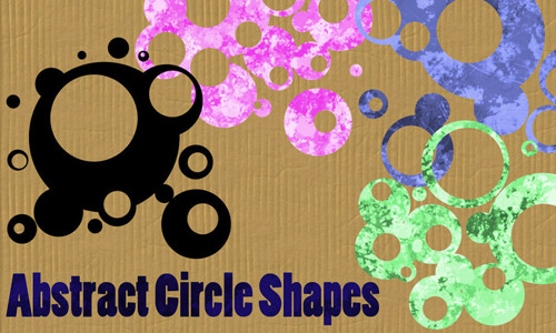 abstract circle photoshop shapes