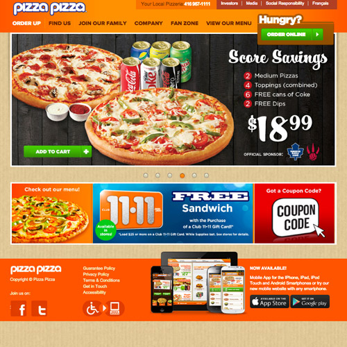 pizza website design