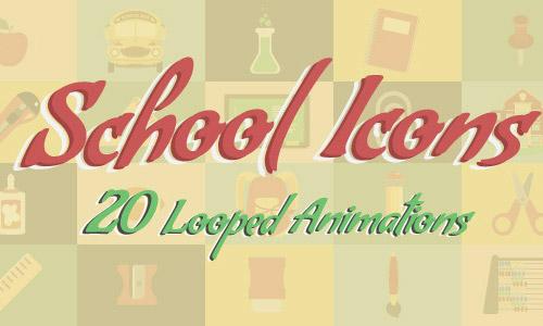 school icons animated