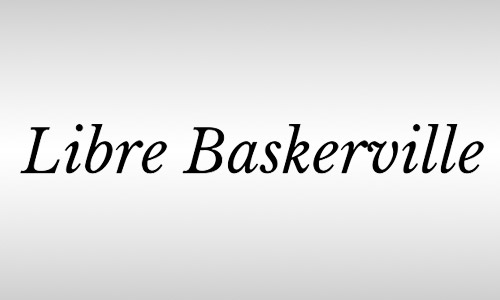 Baskerville free italic font