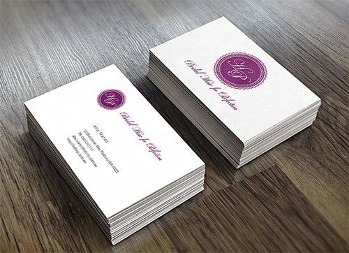 bridal violet business card