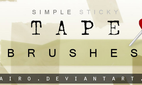 free tape brushes photoshop