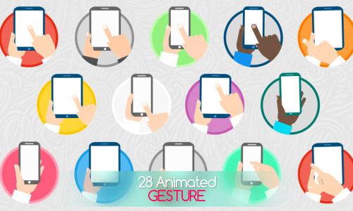 animated gesture icons
