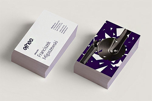 efneo violet business card