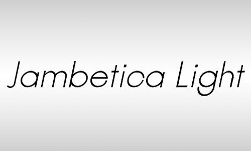 jambetica free italic fonts